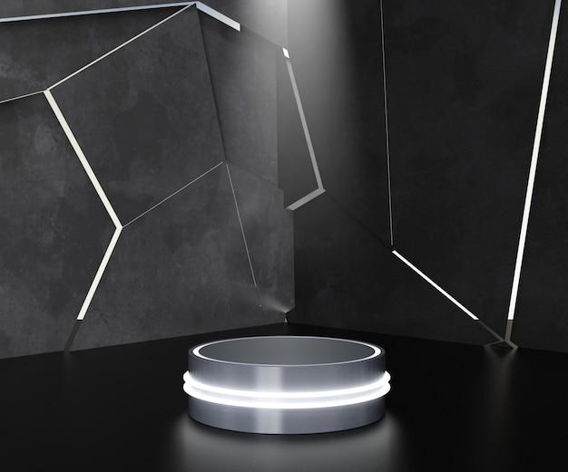 Pedestal futurista para exibição de pódio.
