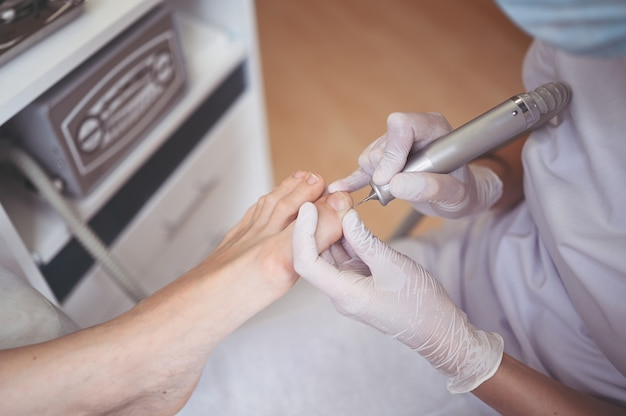 Pedicure médico de hardware com broca de lixa