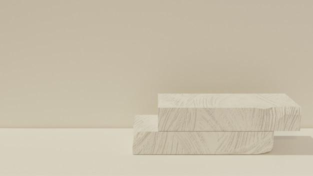 Pedra 3d ou gesso para produto de suporte de exibição ou papel de parede