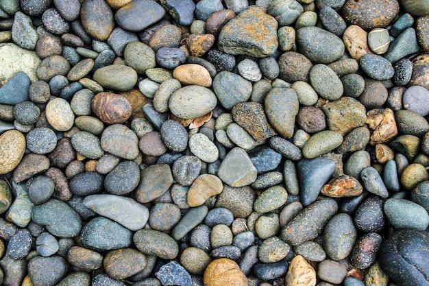 Pedra de seixos ou fundo de pedra de rio com filtro vintage