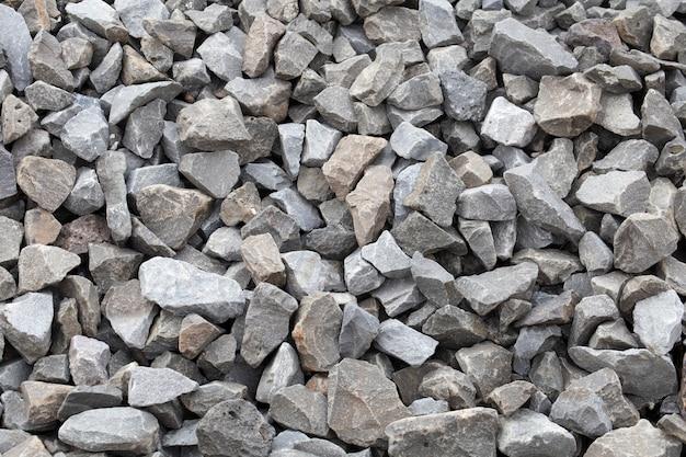 Pedra. materiais de construção de pedra esmagada.