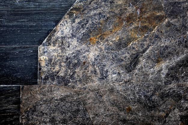 Pedra preta, textura, fundo pedra rachada