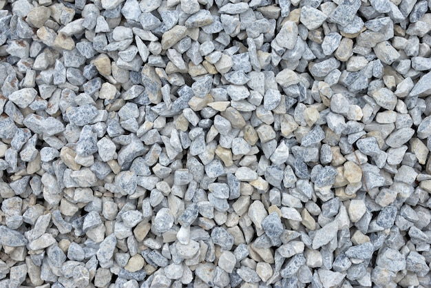 Pedras de cascalho para construção de textura de construção