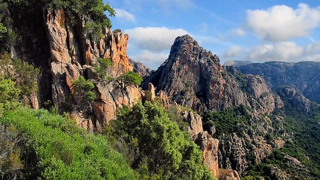 Pedras naturais calanches córsega rocha les