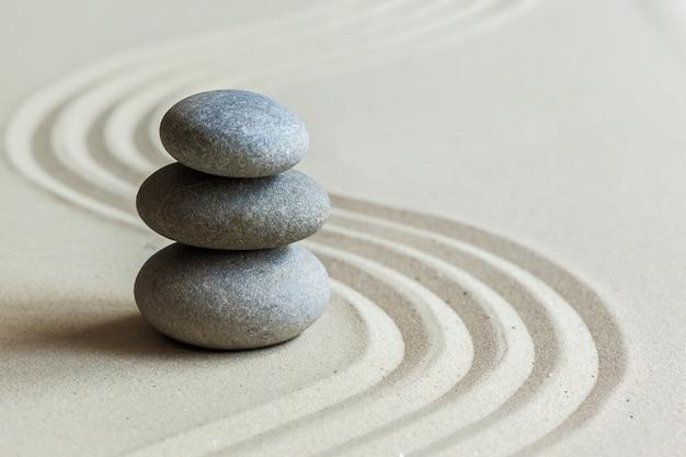 Pedras no jardim zen