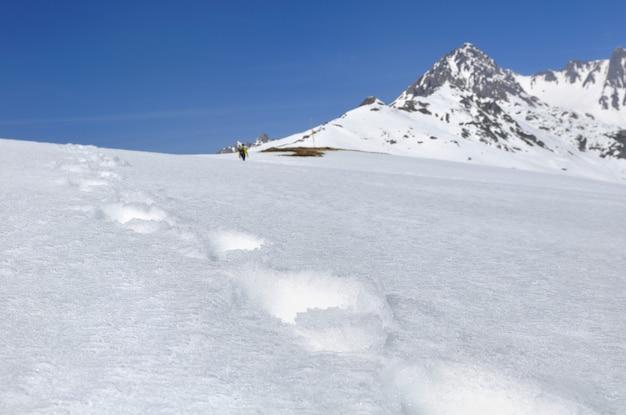 Pegada na neve
