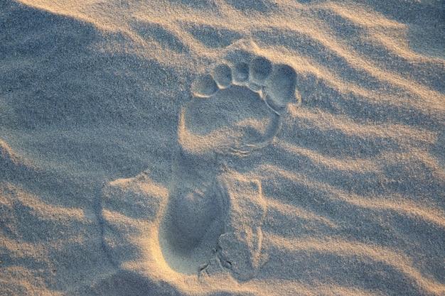 Pegadas humanas na areia
