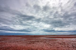 Pei praia de areia cenário hdr