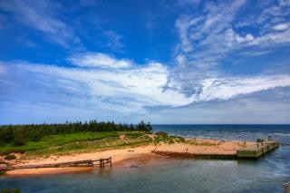 Pei praia paisagem hdr grama