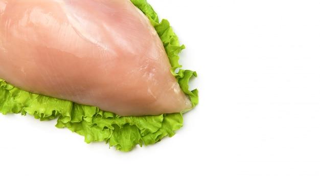 Peito de frango e alface fresca