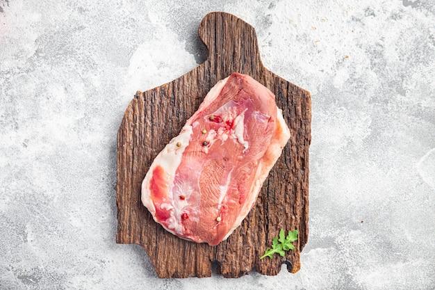 Peito de pato, carne crua, aves, refeição fresca, lanche na mesa cópia espaço comida fundo rústico