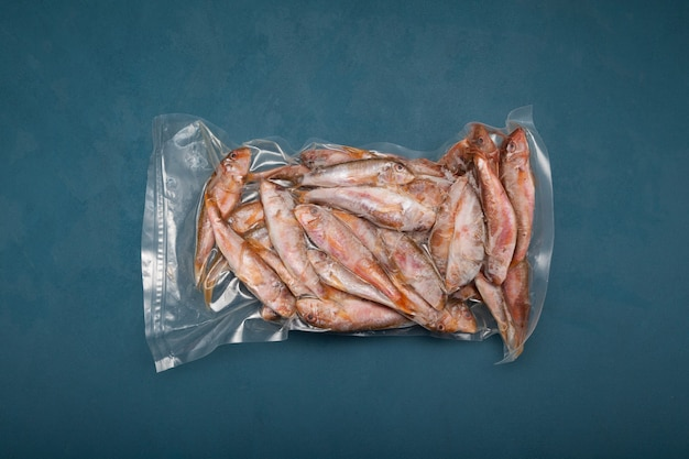 Peixe congelado mullus barbatus salmonete em pacote