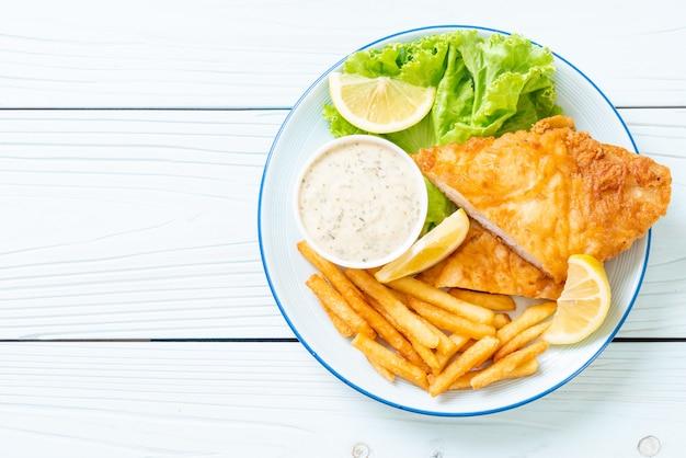 Peixe e batata frita