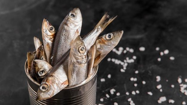 Peixe fresco delicioso em lata