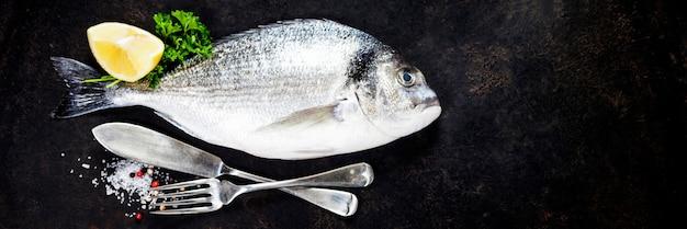 Peixe fresco delicioso