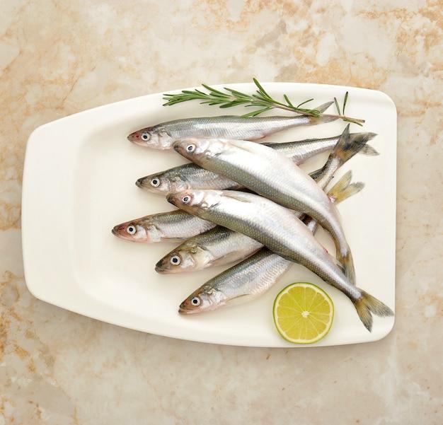Peixes frescos de cheiro europeu