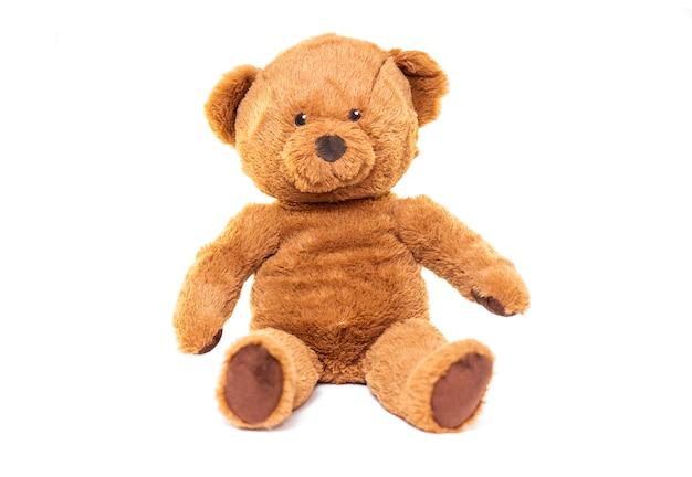 Pelúcia marrom urso brinquedo isolado