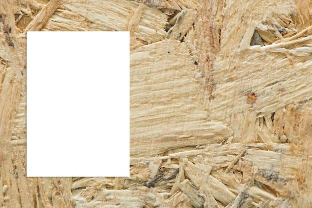 Pendure a placa de papel quarto de madeira