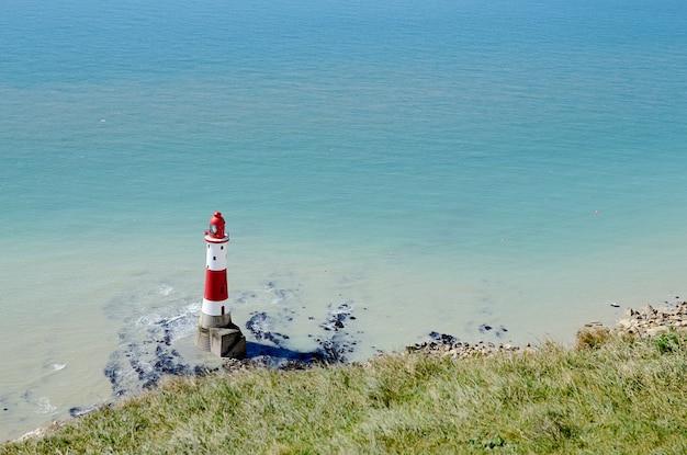 Penhascos em beachy head, na costa sul da inglaterra