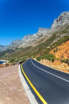 Península do cabo, passeio panorâmico com vista para o mar e montanhas, áfrica do sul