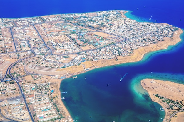 Península do sinai com vista aérea