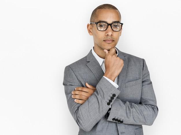 Pensamento de homem de negócios de ascendência africana
