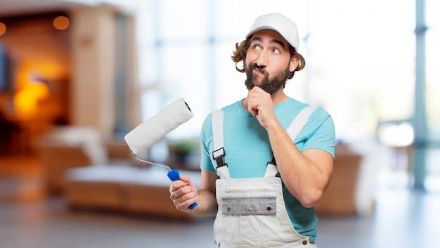 Pensamento de pintor profesional