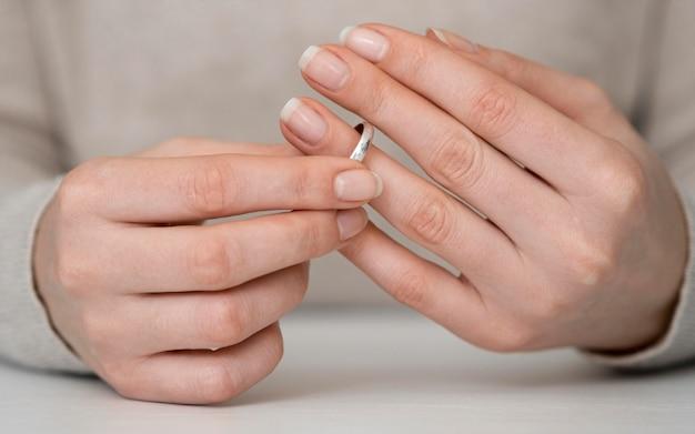 Pensamento feminino fora do divórcio