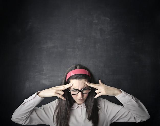Pensando e se concentrando