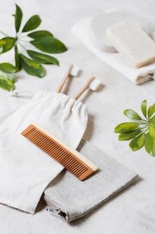 Pente de cabelo natural spa e tratamento de beleza