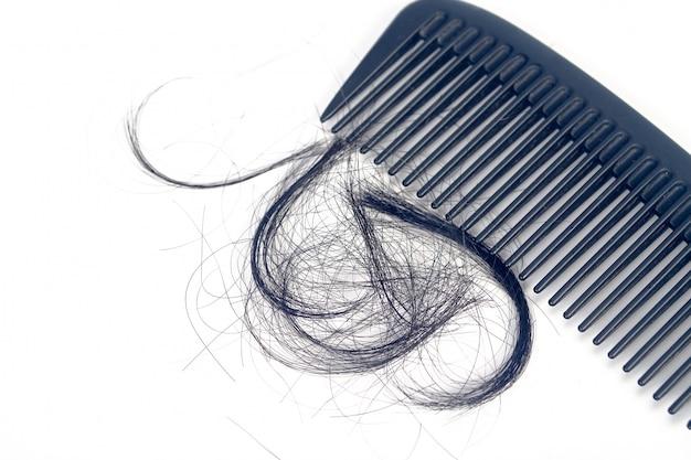 Pente para problema de perda de cabelo de apresentação.