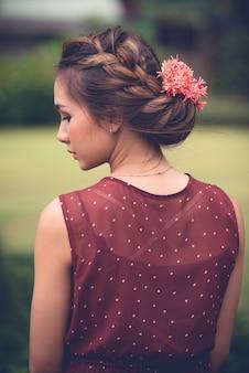 Penteado de verão