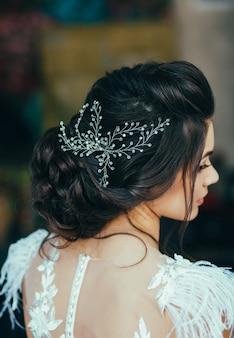 Penteado elegante concurso de casamento