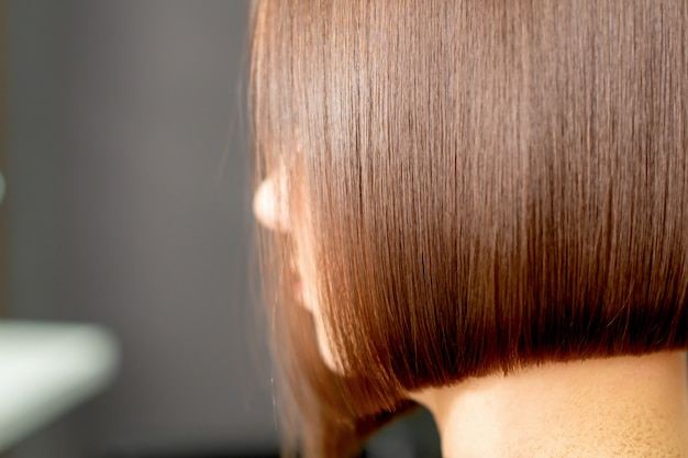 Pentear o cabelo da mulher