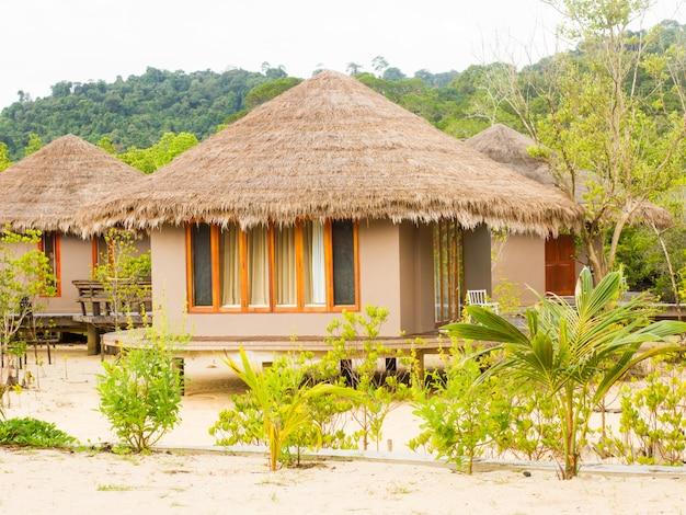 Pequena cabana na floresta de mangue