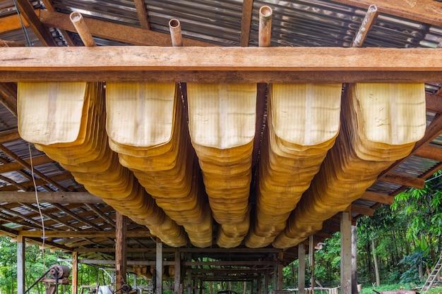 Pequena indústria de borracha em koh mak é uma das ocupações do povo nesta ilha