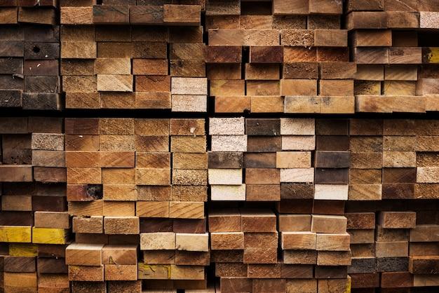 Pequena pilha de fundo de madeira