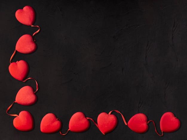 Pequenas corações para dia dos namorados