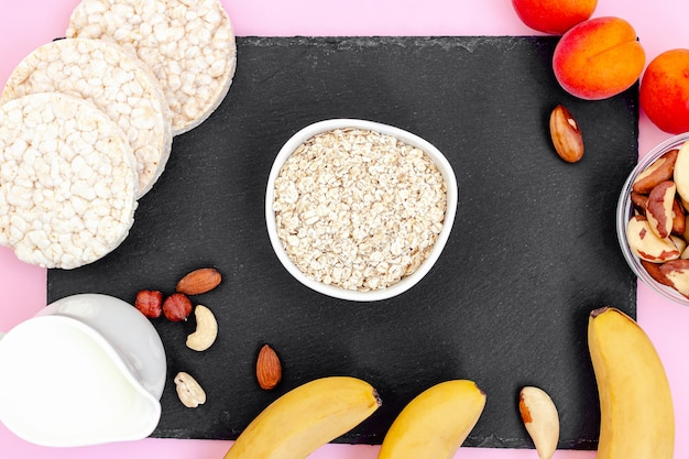 Pequeno-almoço saudável com aveia
