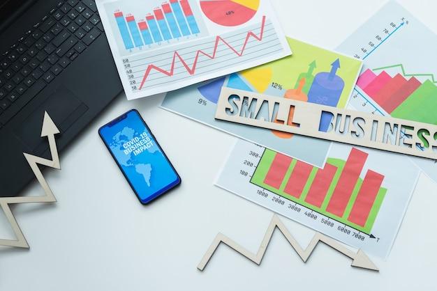 Pequenos negócios e conceito covid 19.