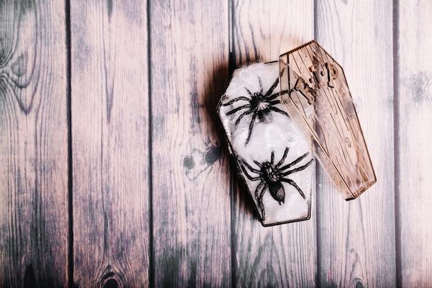 Pequim caixão com aranhas