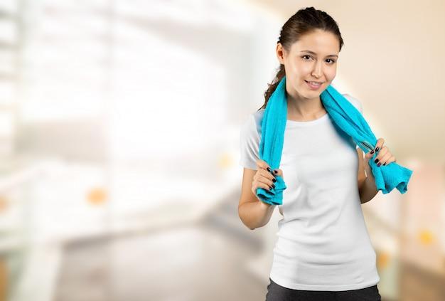 Perda de peso. estilo de vida saudável. fêmea saudável desportiva