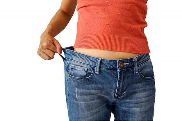 Perda de peso magro do desgaste de mulher do desgaste .healthy concep