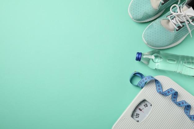 Perda de peso ou acessórios de estilo de vida saudáveis