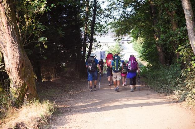 Peregrinos ao longo do caminho de st. james