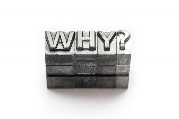 Pergunta metal word why letterpress