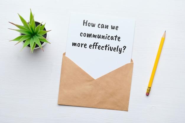 Pergunta popular em psicologia - como podemos nos comunicar de maneira mais eficaz.
