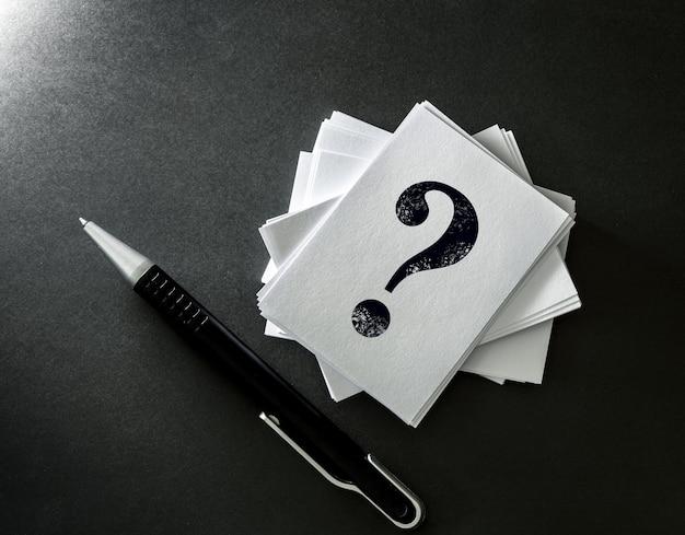 Perguntas e respostas ou q & a concept design
