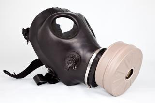 Perigo máscara de gás