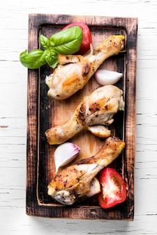 Pernas de frango assado